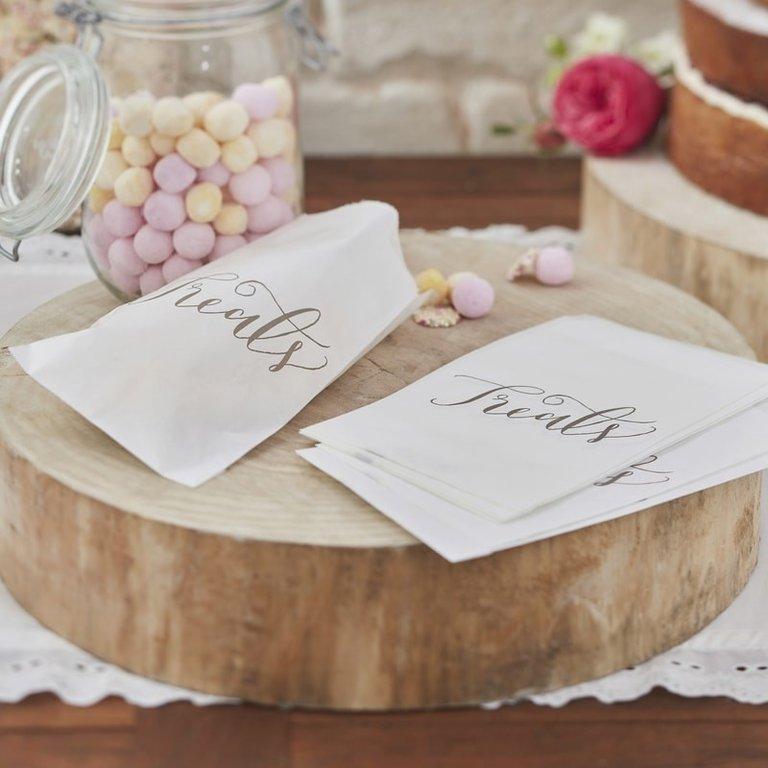 White Treat Candy Bag Sublime Wedding Shop