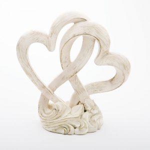 Figura tarta corazones entrelazados