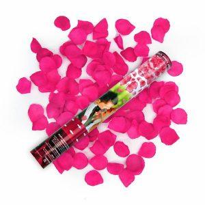 cañon lanza petalos rosa