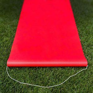 alfombra roja de un solo uso