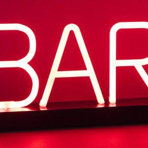 cartel luminoso neon bar