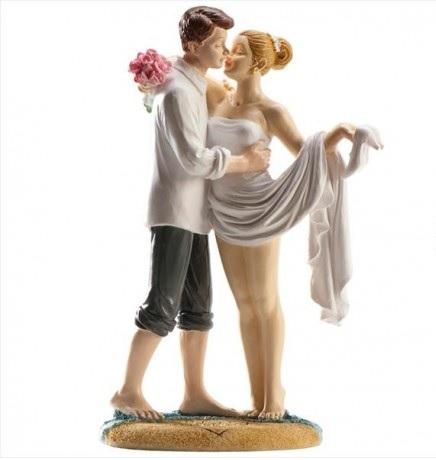 figura tarta pareja novios playa