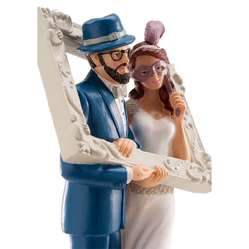 pareja-boda-marco-divertida-18cm