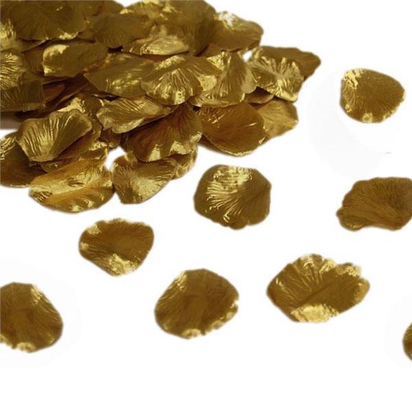 Pétalos dorados metalizados