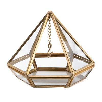 Porta alianzas piramidal dorada