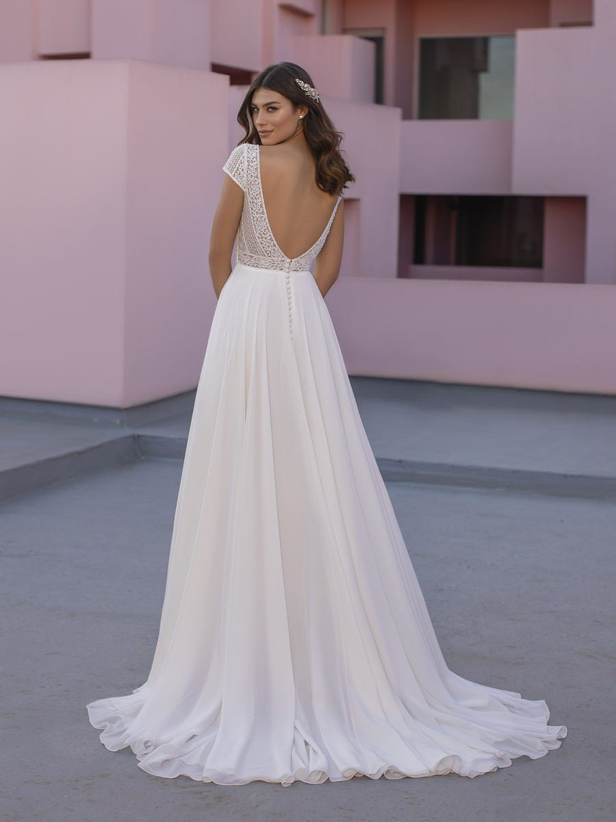 vestido de novia olek white one back