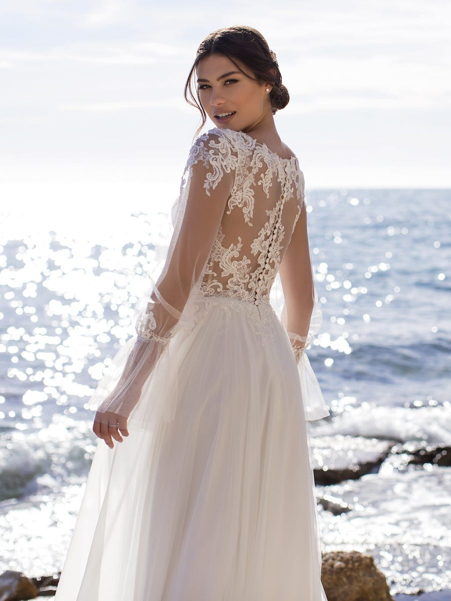 vestido de novia periwinkle white one pronovias sublime wedding shop