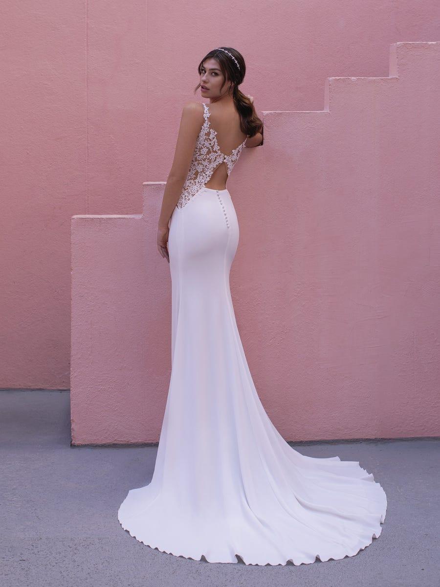vestido novia geranium white one back