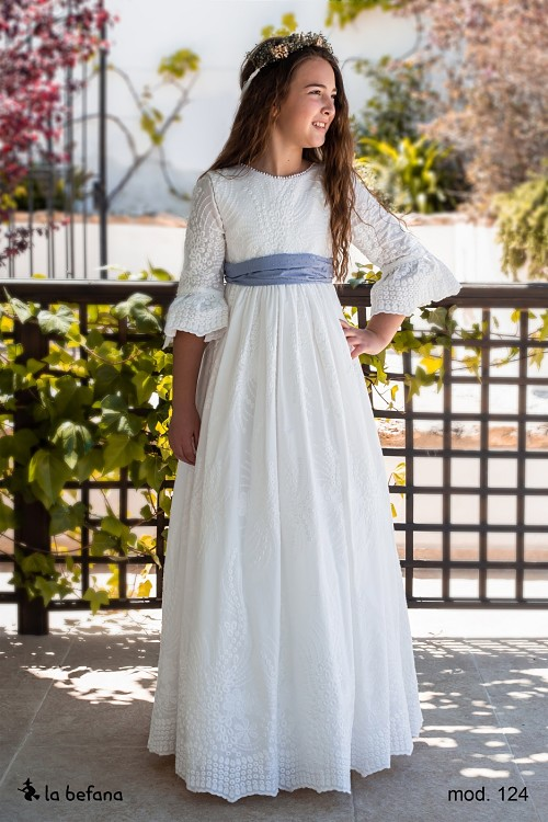 VESTIDO COMUNION SENCILLO MODELO 124 LA BEFANA SUBLIME WEDDING SHOP