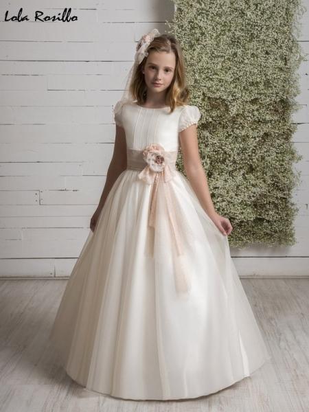 Vestido comunion clasico Q539 lola rosillo sublime wedding shop