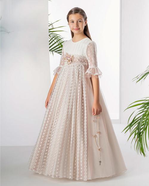 Vestido de comunion aire de barcelona 50105 front Sublime Wedding shop_opt