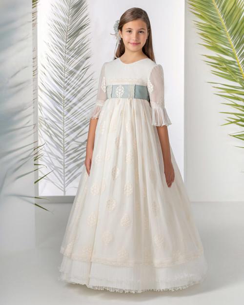 Vestido de comunion aire de barcelona 50124 front Sublime Wedding Shop_opt