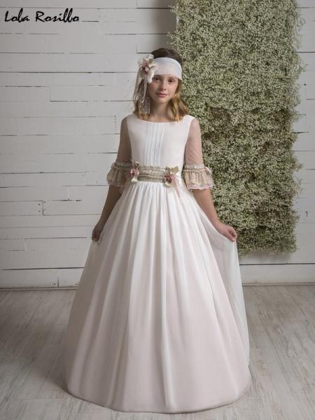 vestido comunion clasico Q575 lola rosillo sublime wedding shop