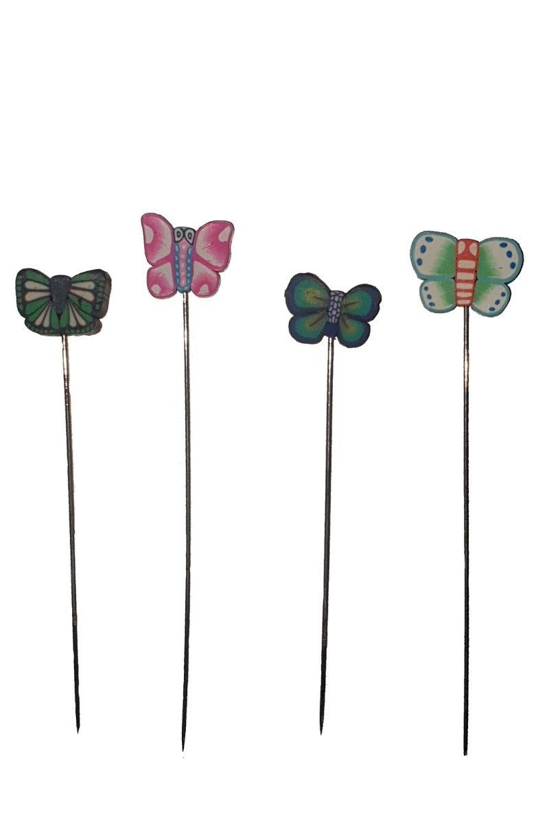 Alfiler mariposa resina