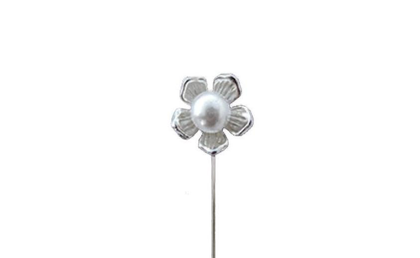 alfiler metalico flor grande