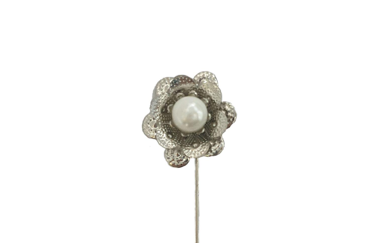 flor plata perla blanca vfsv