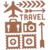 assorted travel cork shape stickers