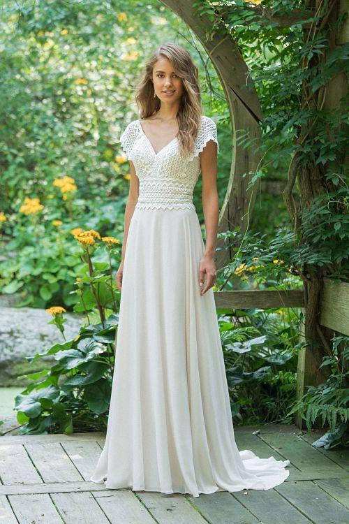 vestido novia 66016 boho lillian west