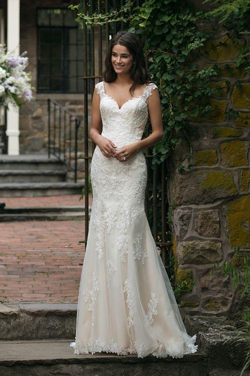 vestido novia sincerity 44054 sirena