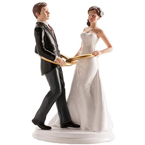 figura-de-tarta-pareja-de-novios-con-alianza